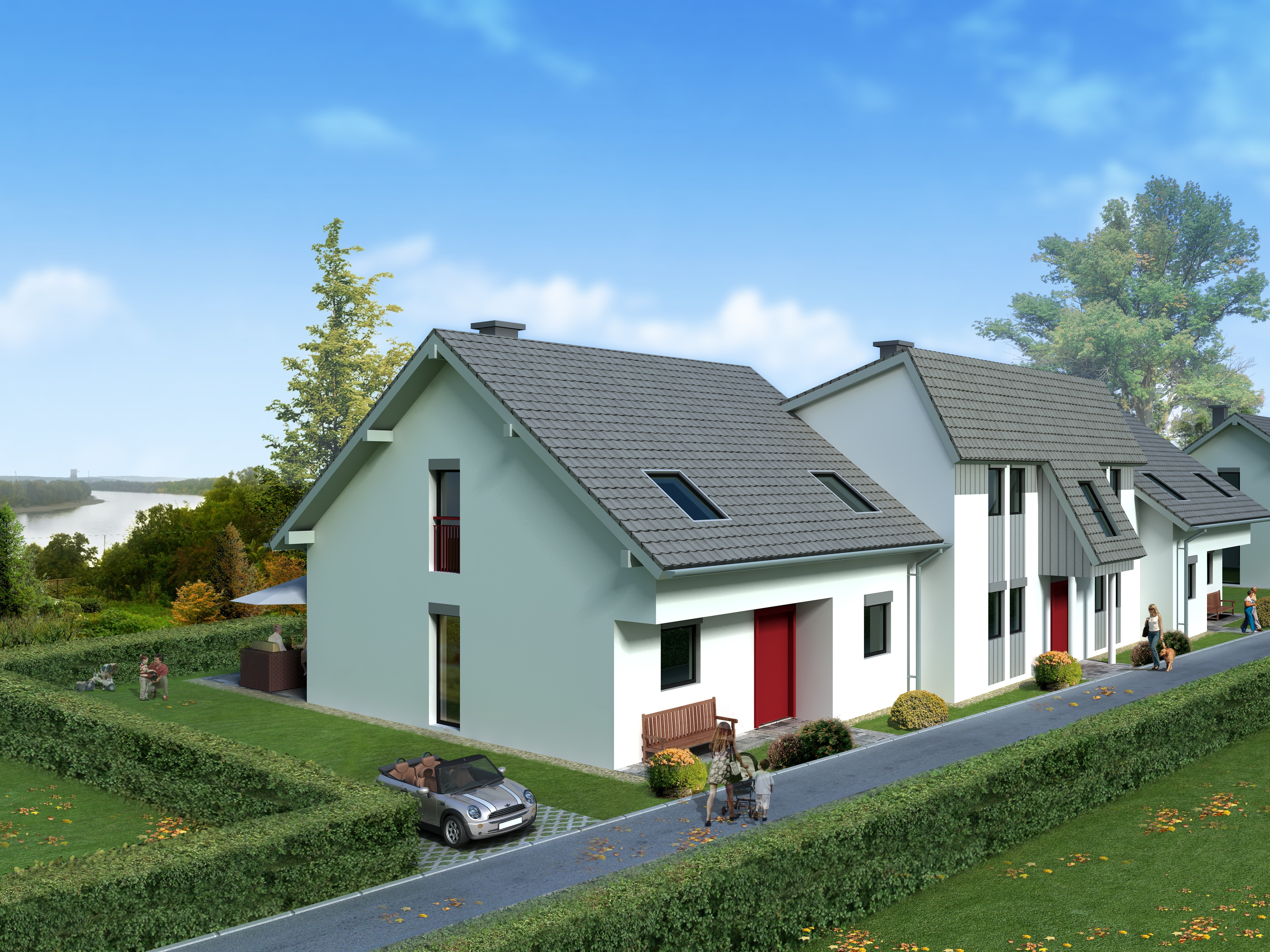 semi detached house 1026384